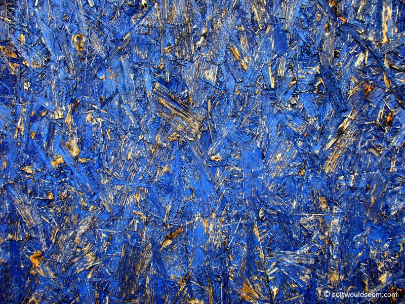 Blue For You - painted chipboard hoarding