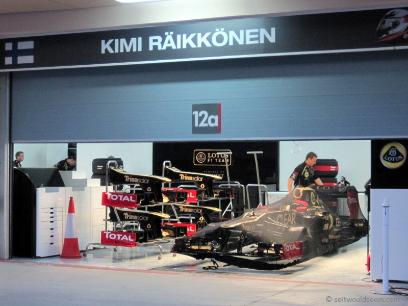 Sleep Tight, Sweet Dreams - Räikkönen Lotus in Parc Ferme at Bahrain 2012 F1 GP