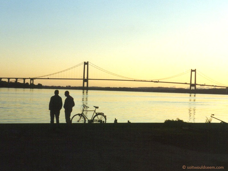 Conversation By The Bridge - Lillebaeltsbro bridge, Middelfart, Denmark