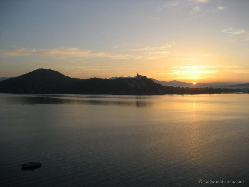 Arona Dawn - sunrise over Lago Maggiore, Italy, viewed from the Arona shore