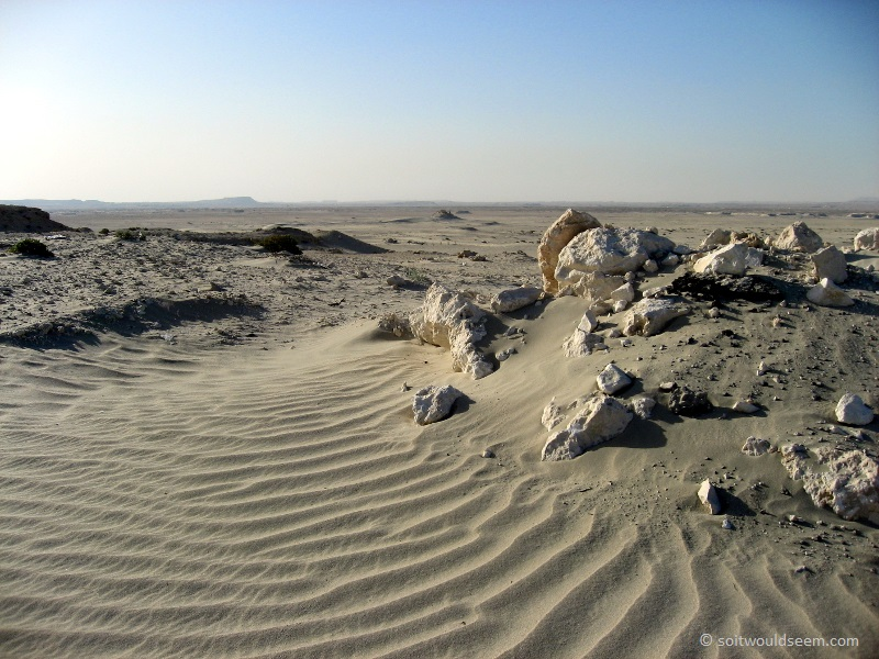 A Sea Of Sand / Deserted - View from the old Durrat road, Bahrain