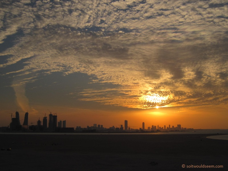 Sunset Over Manama - Kingdom of Bahrain