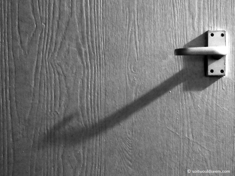 door handle shadow