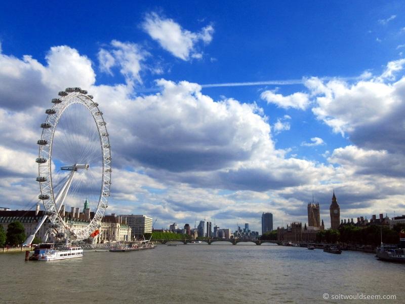 london eye big ben thames