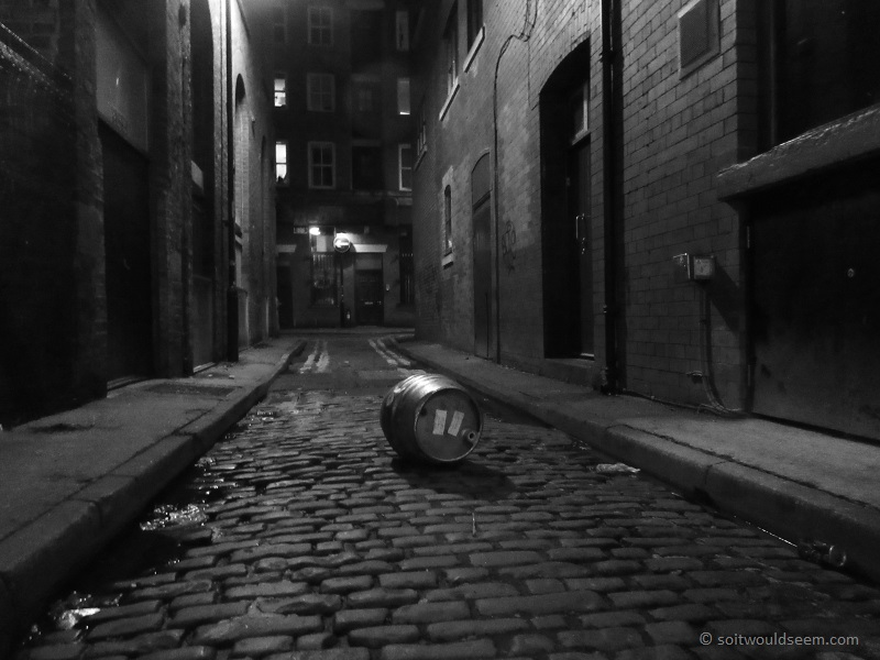 The Party Is Over - A random barrel on Catlow Lane, Manchester at the end of the night