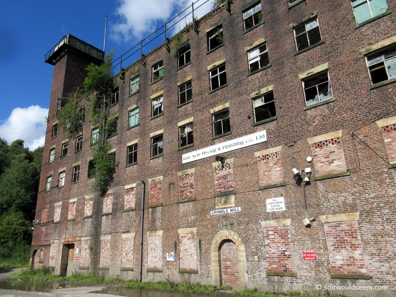 Crimble Mill at Heywood, Lancashire, built in 1829 but empty since 2005 and now derelict