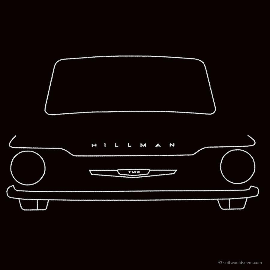 Hillman Imp outline drawing