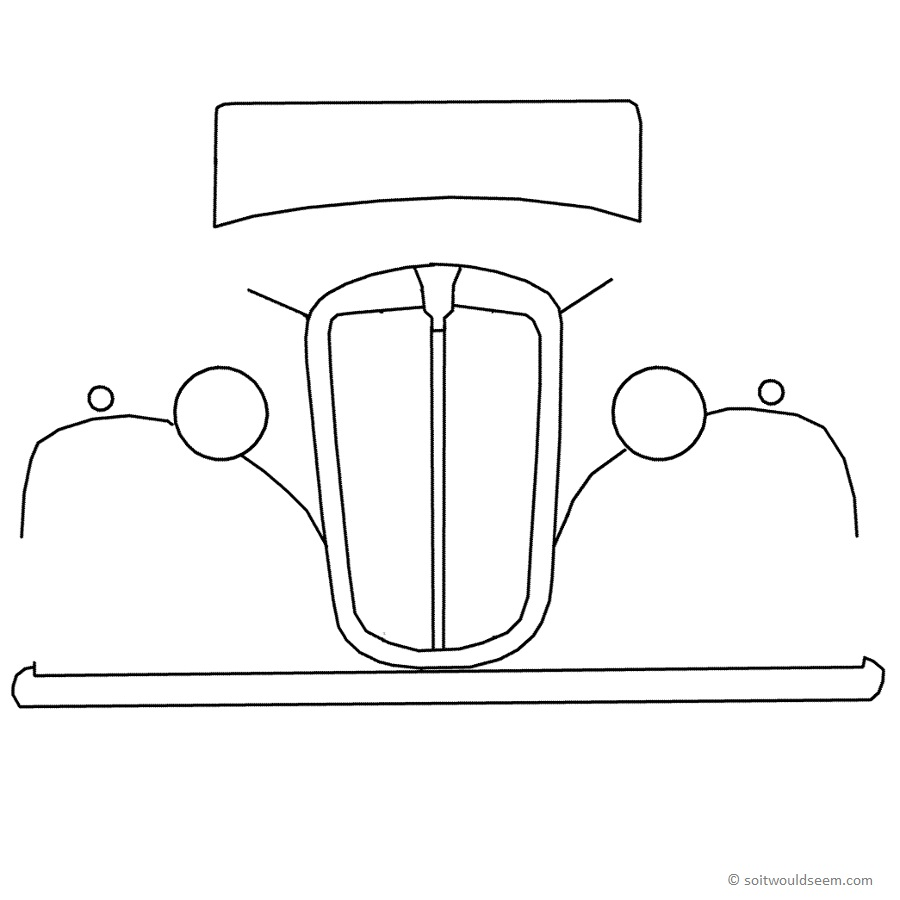 Morris 8 outline drawing