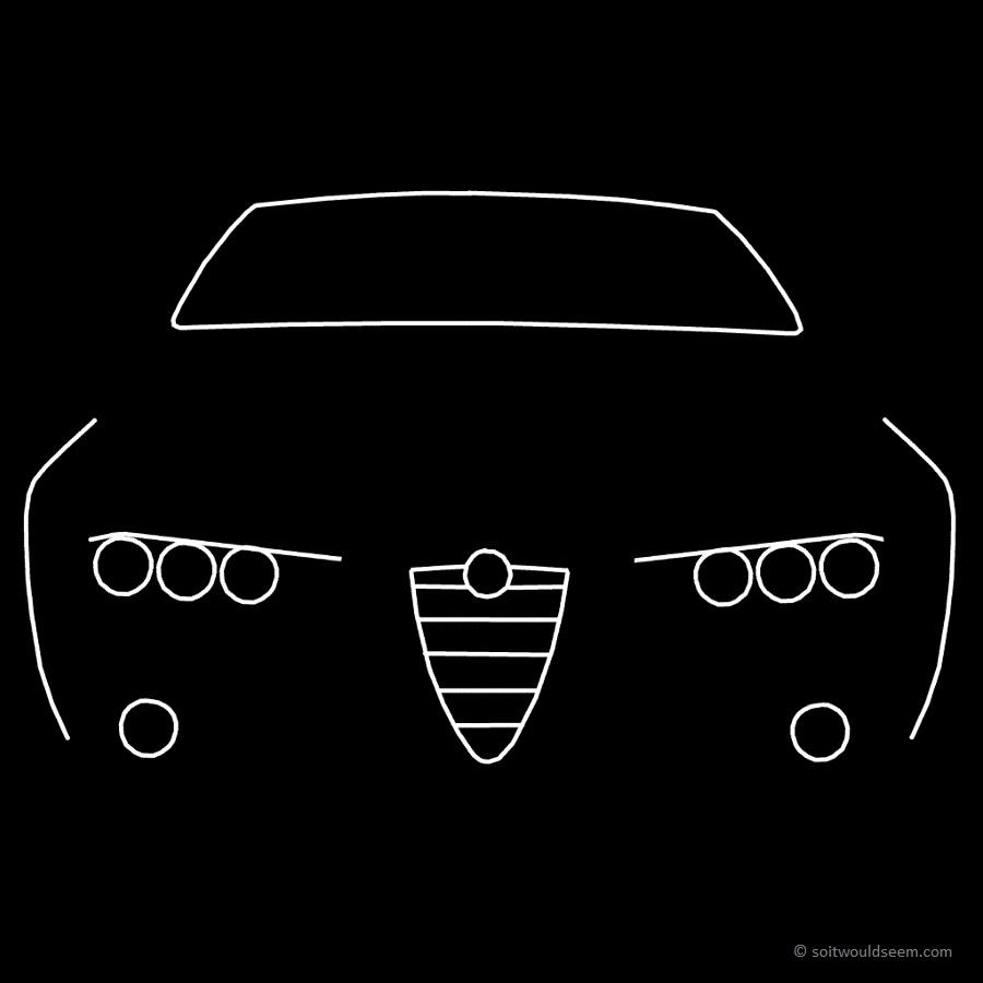 Alfa Romeo 159 line drawing